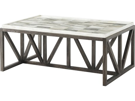 Theodore Alexander Faux Horn / Mesquite 47'' Wide Rectangular Coffee Table