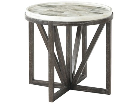 Theodore Alexander Faux Horn / Mesquite 26'' Wide Round End Table