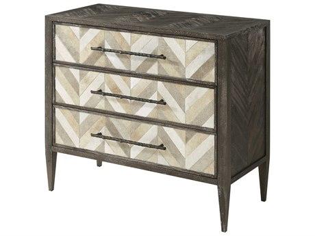 Theodore Alexander Mahogany / Cow Hide Brass Dresser