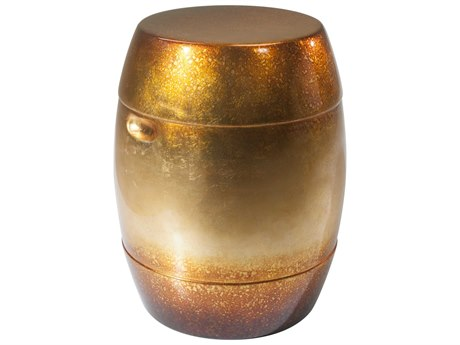 Theodore Alexander Gold Leaf 14'' Wide Round Drum Table