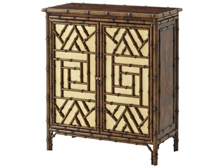 Theodore Alexander Indochine Flame Figured Veneer / Canvas The Argent Decorative Sideboard