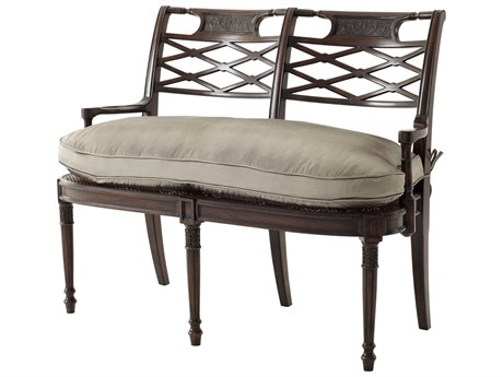 Theodore Alexander Acacia / Cane Brass Accent Bench TAL45000371ABL