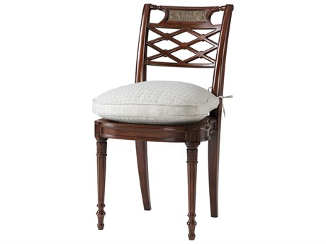 Theodore Alexander Acacia / Brass Cane Side Dining Chair