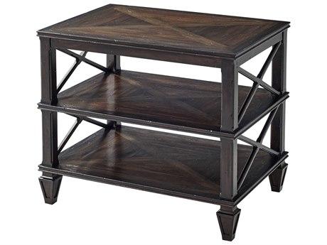 Theodore Alexander Mahogany / Oak Acacia 30'' Wide Rectangular End Table