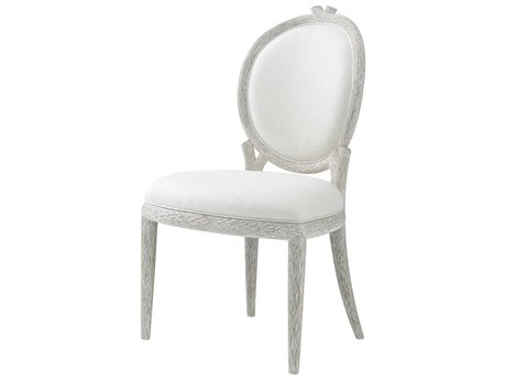 Theodore Alexander Chalk Grey Side Dining Chair