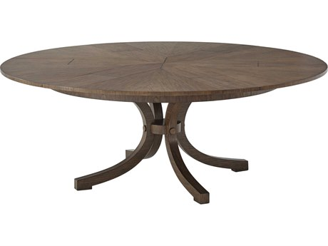 Theodore Alexander Mahogany 60'' Wide Round Dining Table