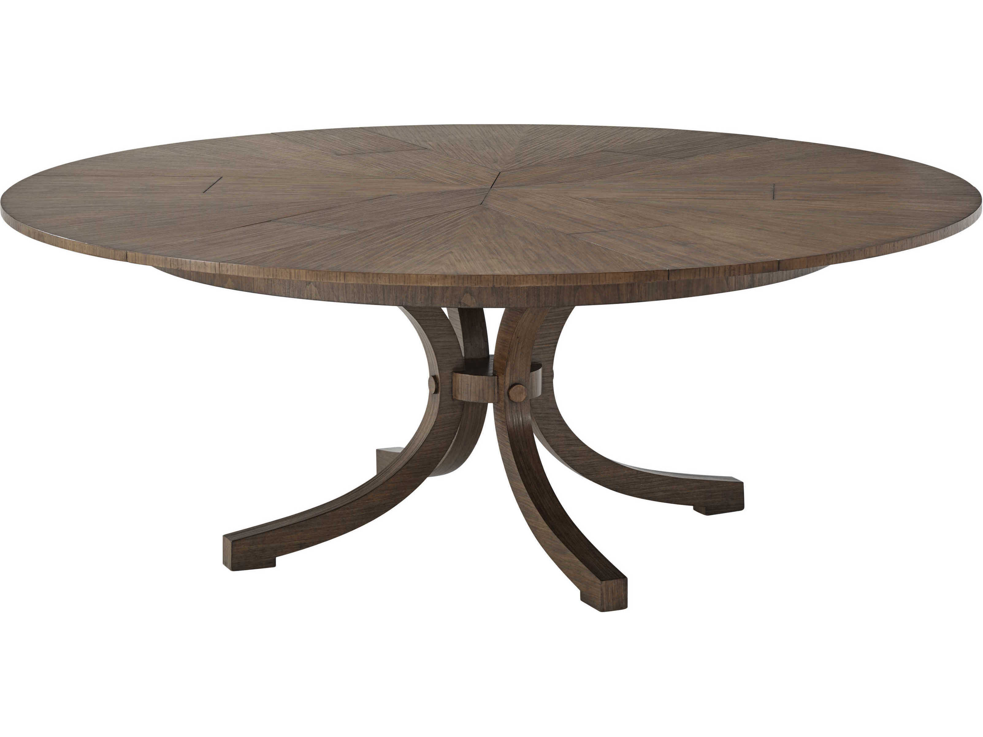 Theodore Alexander Mahogany 9'' Wide Round Dining Table