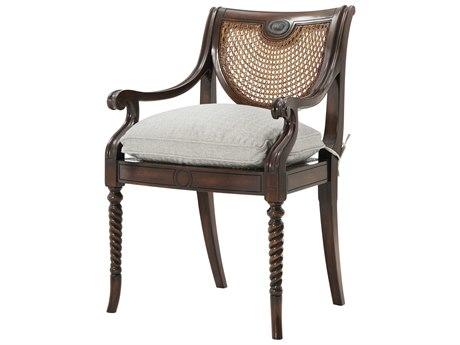 Theodore Alexander Acacia / Cane Arm Dining Chair TAL41002371AQP