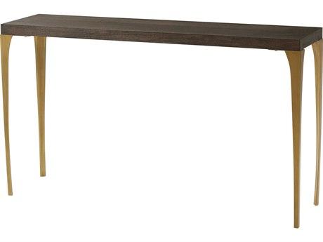 Theodore Alexander Cardamon Lati & Brushed Brass 57'' Wide Rectangular Console Table