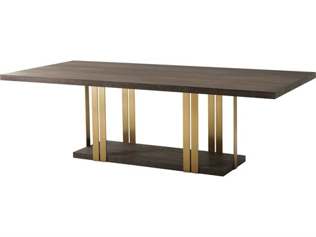 Theodore Alexander Cardamon Lati & Brushed Brass 95'' Wide Rectangular Dining Table