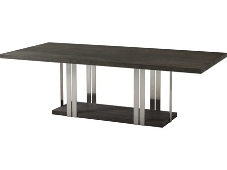 Theodore Alexander Anise Lati & Brushed Stainless Steel 95'' Wide Rectangular Dining Table