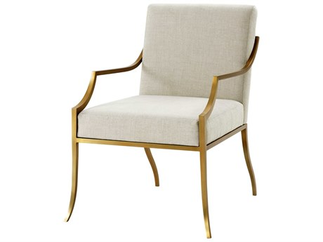 Theodore Alexander Brushed Brass Accent Chair