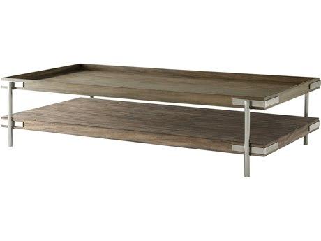 Theodore Alexander Mangrove Primavera & Brushed Stainless Steel 67'' Wide Rectangular Coffee Table