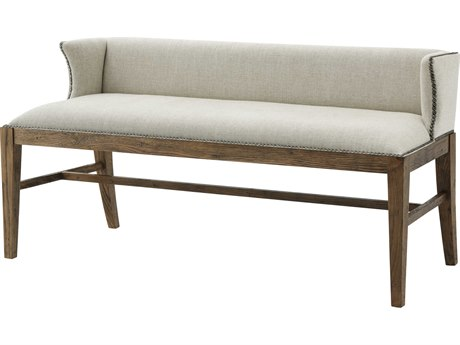 Theodore Alexander Light Echo Oak Accent Bench