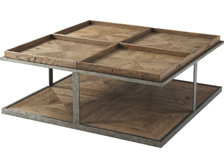 Theodore Alexander Echo Oak 48'' Wide Square Coffee Table