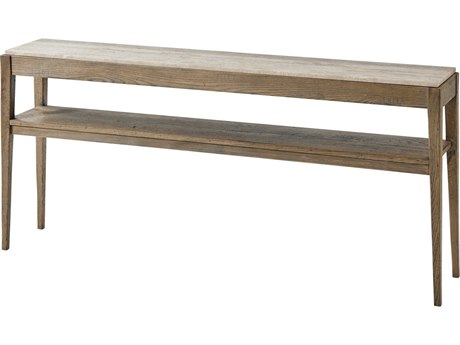 Theodore Alexander Honed Travertine / Echo Oak 70'' Wide Rectangular Console Table TALCB53020C062