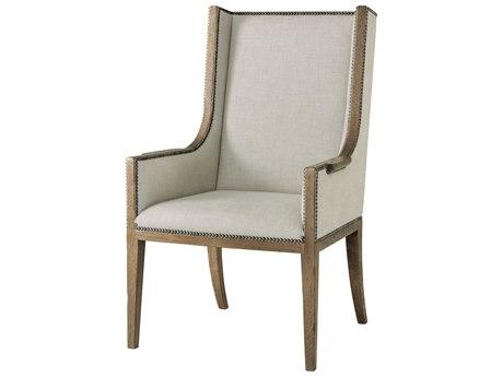 Theodore Alexander Echo Oak Arm Dining Chair