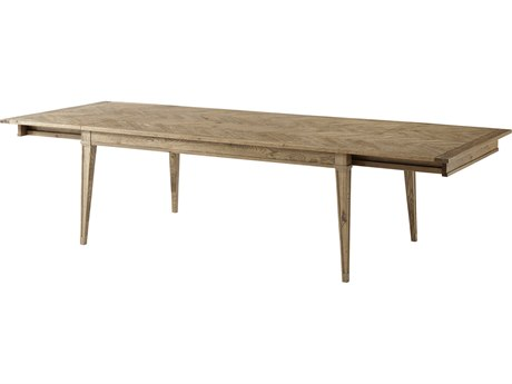 Theodore Alexander Echo Oak 75'' - 119'' Wide Rectangular Dining Table
