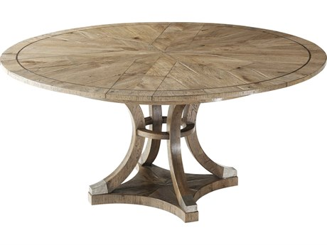 Theodore Alexander Echo Oak 48''-64'' Wide Round Dining Table
