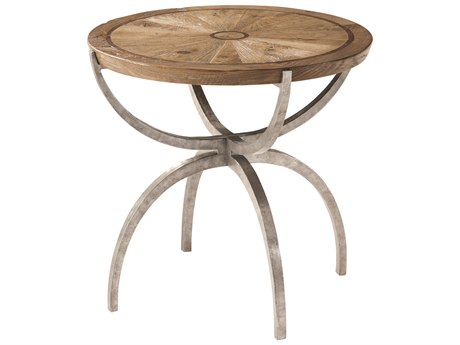 Theodore Alexander Echo Oak 26'' Wide Round End Table