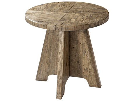 Theodore Alexander Echo Oak 28'' Wide Round Pedestal Table