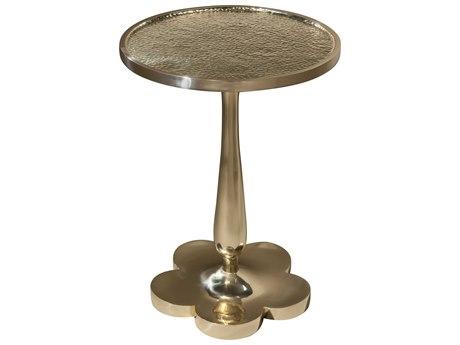 Theodore Alexander Brass 17'' Wide Round Pedestal Table