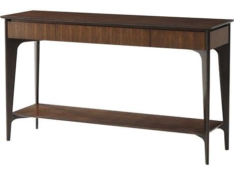 Theodore Alexander Hyedua Veneer / Mahogany 60'' Wide Rectangular Console Table