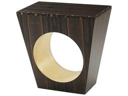 Amara Ebony / Gold Leaf 24'' Wide Rectangular End Table