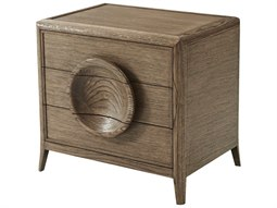Oak / Veneer Rectangular 3 Drawers Nightstand