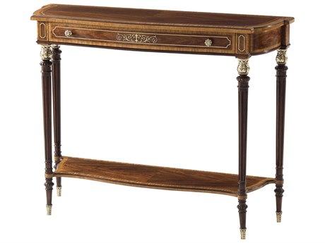 Theodore Alexander Mahogany / Figured Etimoe Veneer Movingue 42'' Wide Rectangular Console Table