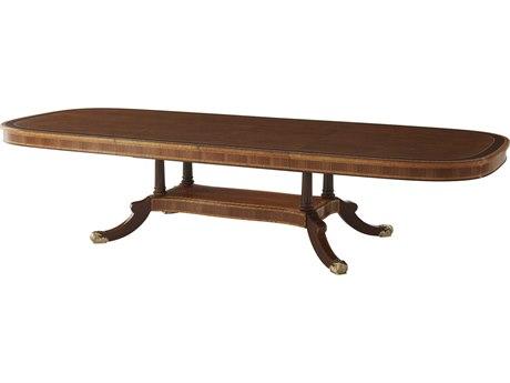 Theodore Alexander Mahogany / Figured Etimoe Veneer Movingue 137'' Wide Rectangular Dining Table