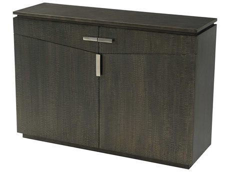 Theodore Alexander Veneer / Lacquer Stainless Steel Accent Chest