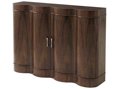 Theodore Alexander Pacific Walnut Veneer / Stainless Steel Accent Chest
