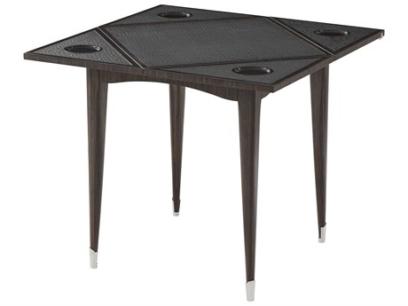 Theodore Alexander Louro Preto Veneer / Oak Leather Game Table