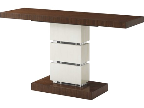 Theodore Alexander Hyedua Veneer / Buffalo Horn Stainless Steel 62'' Wide Rectangular Console Table TAL5305189