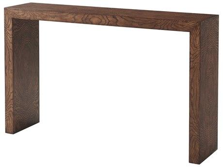 Theodore Alexander Olive Ash Swirl Veneer 51'' Wide Rectangular Console Table