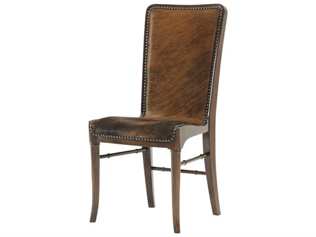 Theodore Alexander Mahogany / Hair on Hide Side Dining Chair