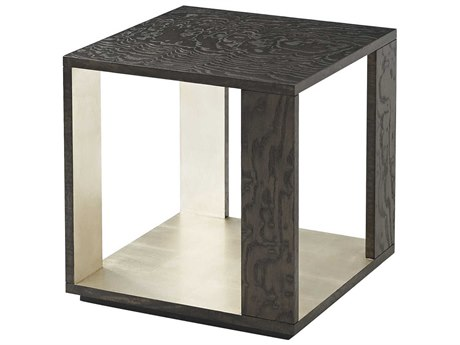 Theodore Alexander Tamo Ash Veneer / Silver Leaf 18'' Wide Square End Table