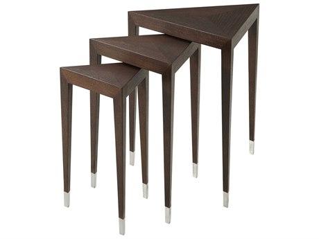 Theodore Alexander Wenge Veneer / Beech 20'' Wide Corner Nesting Table TAL5005862