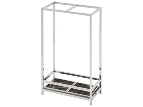 Theodore Alexander Stainless Steel / Marble Umbrella Stand TAL1129012