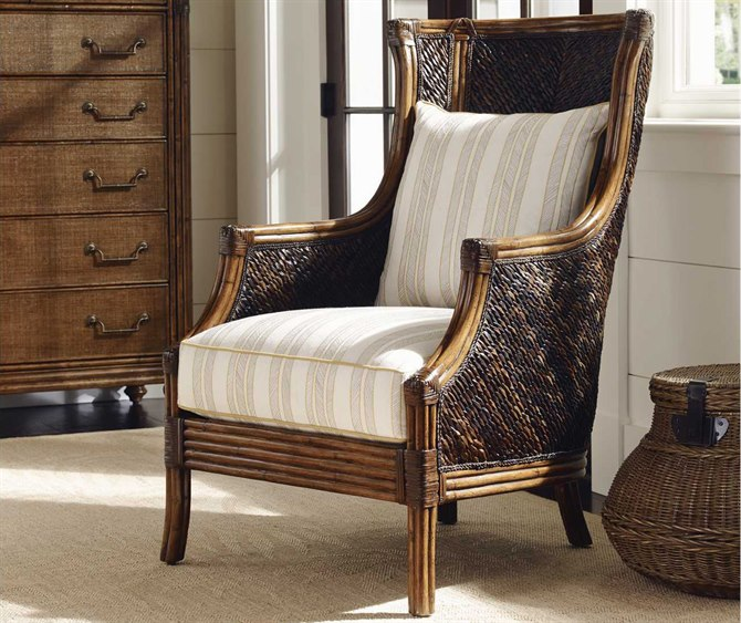 Tommy Bahama Bali Hai Rum Beach Loose Back Rattan Chair