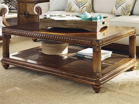 Tommy Bahama Bali Hai 51.25'' x 35.25'' Vineyard Point Rectangular Cocktail Table TO593945
