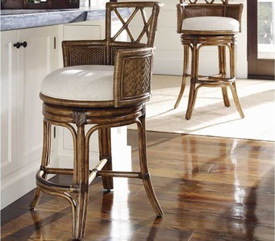 Tommy Bahama Bali Hai Kamala Bay Quick Ship Swivel Counter Stool TO59381501