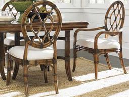 Bali Hai 20.5'' x 25.25'' Cedar Key Oval Back Quick Ship Side Chair