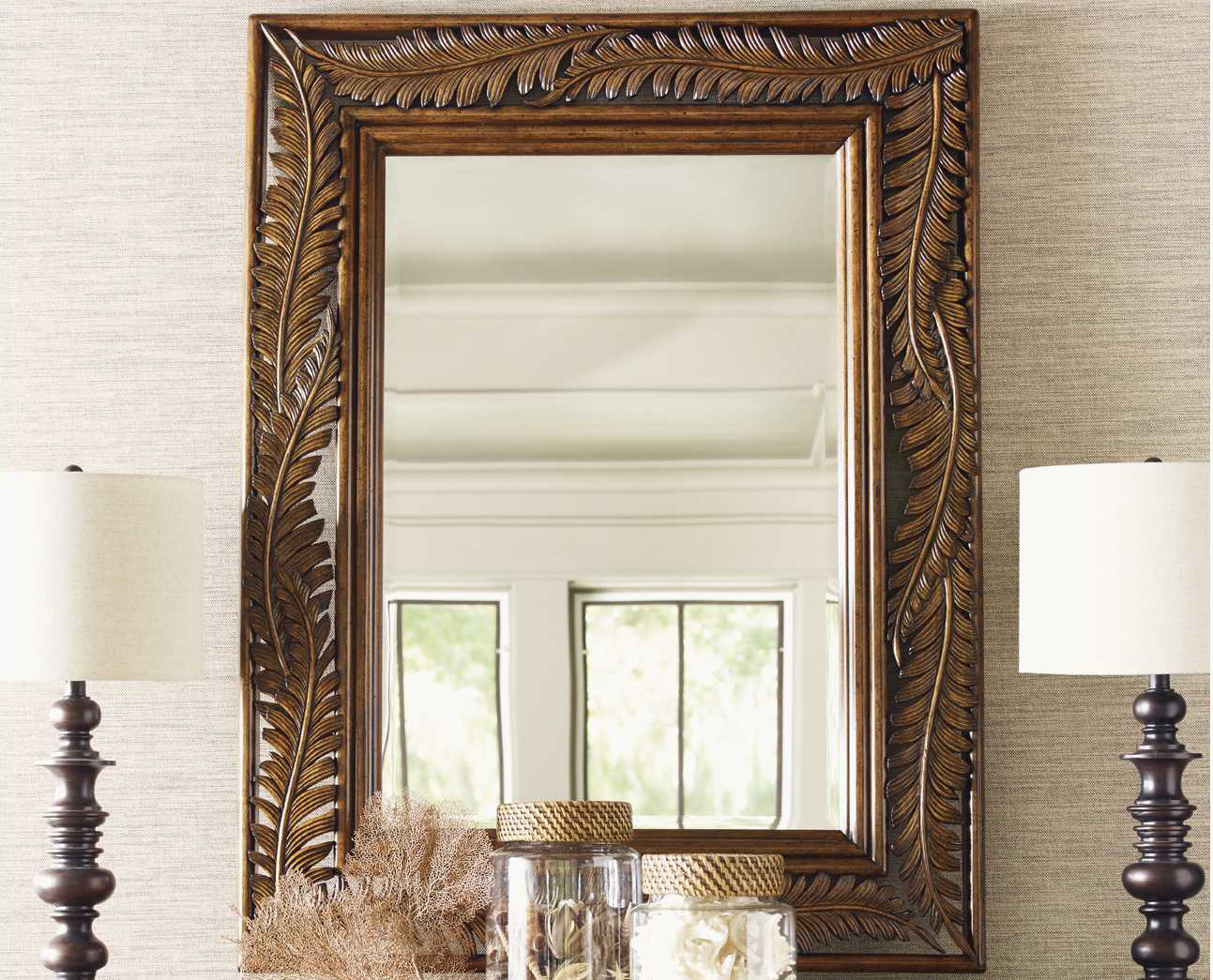 Tommy Bahama Bali Hai Wood Seabrook Landscape Dresser Mirror To593206