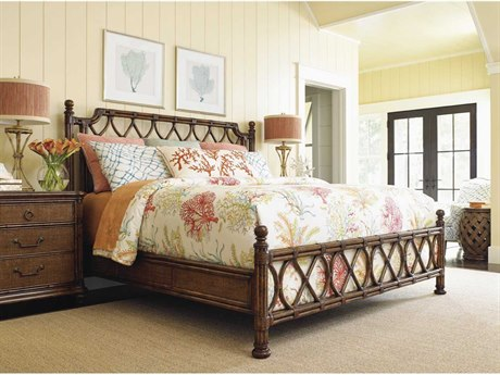 Tommy Bahama Bali Hai Island Breeze Queen Rattan Bed TO593133C
