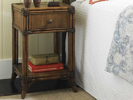 Tommy Bahama Bali Hai Del Sol Bedside Table Square Nightstand TO593622