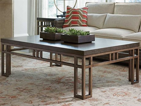 Tommy Bahama Cypress Point 56'' x 38'' Rectangular Montera Travertine Cocktail Table TO561943