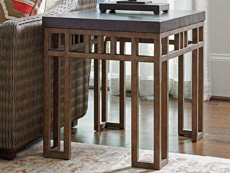 Tommy Bahama Cypress Point 22'' x 28'' Rectangular Montera Travertine End Table TO561953