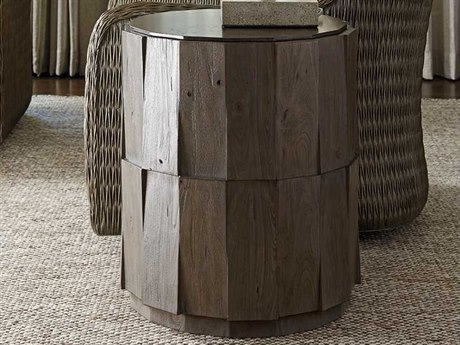 Tommy Bahama Cypress Point 20'' Everett Round Travertine End Table